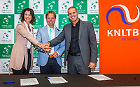 The Hague, The Netherlands, September 13, 2017,  Sportcampus , Davis Cup Netherlands - Chech Republic, Contract, KNLTB<br /> Photo: Tennisimages/Henk Koster