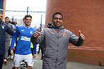 06.03.2021 Rangers v St Mirren: Alfredo Morelos after greeting the fans at full time