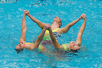 2 February 2008: Melissa Knight, Sara Lowe and Courtenay Stewart during Stanford's 90-69 win over Alabama-Birmingham at the Avery Aquatic Center in Stanford, CA.