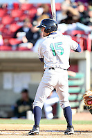 April 17 2010: Randal Grichuk of the Cedar Rapids Kernels at Elfstrom Stadium in Geneva, IL. The Kernels are the Low A affiliate of the Los Angeles Angels. Photo by: Chris Proctor/Four Seam Images