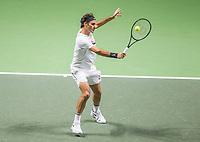 Rotterdam, The Netherlands, 18 Februari, 2018, ABNAMRO World Tennis Tournament, Ahoy, Singles final, Roger Federer (SUI) <br /> <br /> Photo: www.tennisimages.com