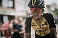 Amund Grondahl Jansen's (NOR/LottoNL-Jumbo) post-race face after finishing<br /> <br /> 92nd Schaal Sels 2017 <br /> 1 Day Race: Merksem > Merksem (188km)