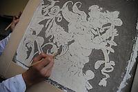 Istituto Statale d'Arte e Liceo Artistico Roma 2.Esercitazione didattica degli studenti della sezione di decorazione pittorica e scenografica..State Institute of Art and Art School Roma. Tutorial teaching of students in the section of pictorial and scenic decoration..