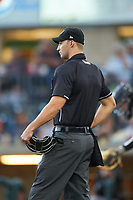 Home plate umpire Steve Craze during a Pioneer League game between the Grand Junction Rockies and Billings Mustangs at Dehler Park on August 14, 2019 in Billings, Montana. Grand Junction defeated Billings 8-5. (Zachary Lucy/Four Seam Images)