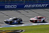 #19: Brandon Jones, Joe Gibbs Racing, Toyota Camry Toyota XYO Networks and #20: Christopher Bell, Joe Gibbs Racing, Toyota Camry Rheem