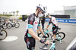 Michael Hepburn (AUS) Team BikeExchange at sign on before the start of Stage 5 of the 2021 UAE Tour running 170km from Fujairah to Jebel Jais, Fujairah, UAE. 25th February 2021.  <br /> Picture: Eoin Clarke   Cyclefile<br /> <br /> All photos usage must carry mandatory copyright credit (© Cyclefile   Eoin Clarke)