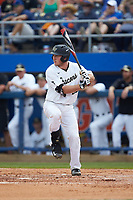Ben Breazeale (39) of the Wake Forest Demon Deacons at bat against the Florida Gators in Game Two of the Gainesville Super Regional of the 2017 College World Series at Alfred McKethan Stadium at Perry Field on June 11, 2017 in Gainesville, Florida.  (Brian Westerholt/Four Seam Images)
