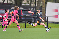 Niekie Pellens (41) of Eendracht Aalst pictured during a female soccer game between Sporting Charleroi and Eendracht Aalst on the 8th matchday in play off 2 of the 2020 - 2021 season of Belgian Scooore Womens Super League , tuesday 18 th of May 2021 in Marcinelle , Belgium . PHOTO SPORTPIX.BE   SPP   STIJN AUDOOREN