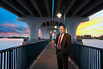 Incoming 2019 Florida Bar president John Stewart under the Merril P. Barber Bridge in Vero Beach, Florida.