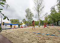 Moscow, Russia, 14 th July, 2016, Tennis,  Davis Cup Russia-Netherlands, Dutch team practise, next to the World Team Beachtennis Championships<br /> <br /> Photo: Henk Koster/tennisimages.com