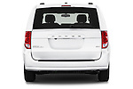 Straight rear view of2015 Dodge Grand Caravan SXT PLUS 5 Door Minivan Rear View  stock images