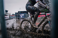 CX world champion Mathieu Van der Poel (NED/Alpecin-Fenix)<br /> UCI cyclo-cross World Cup Dendermonde 2020 (BEL)<br /> Men's Race<br /> <br /> ©kramon