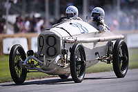 9th July 2021;  Goodwood  House, Chichester, England; Goodwood Festival of Speed; Day Two; George Wingard drives a 1914 Mercedes Grand Prix in the Goodwood Hill Climb