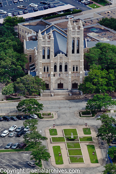 aerial photograph of First United Church of Fort Worth, Fort Worth, Texas
