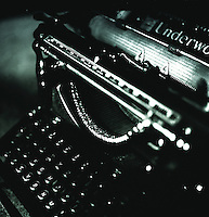 A vintage Underwood typewriter.