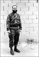 Rebel Commander Leschi, head of the Kosovar-Albanian Liberation Army for Presevo, Medvedja and Bujanovac (UCPMB). The commander was shot dead by a sniper from the Yugoslav protection forces two days after this photo was taken. Velika Trnovac, Serbia, Yugoslavia, May 2001 © Stephen Blake Farrington&#xA;<br />