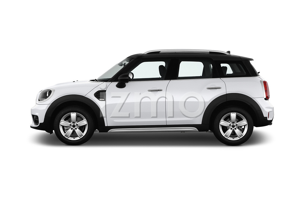Car Driver side profile view of a 2017 MINI Countryman - 5 Door Hatchback Side View