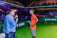 Rotterdam, The Netherlands, 17 Februari 2019, ABNAMRO World Tennis Tournament, Ahoy,   Winner Gael Monfils (FRA) being interviewed by Mark Brasser<br /> <br /> Photo: www.tennisimages.com/Henk Koster