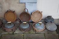 Curling, like golf, was invented by Scots. A row of 1890s Victorian stones in their original panniers at Foulis