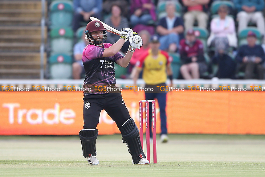 James Hildreth hits out for Somerset during Somerset vs Essex Eagles, Vitality Blast T20 Cricket at The Cooper Associates County Ground on 9th June 2021
