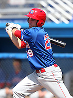 Auburn Doubledays Caleb Ramsey #29 during a game against the Batavia Muckdogs at Dwyer Stadium on June 19, 2011 in Batavia, New York.  Auburn defeated Batavia 6-4.  (Mike Janes/Four Seam Images)