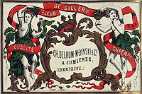 Europe/France/Champagne-Ardenne/51/Marne/Epernay: Musée Municipal détail ancienne étiquette de Champagne de Cumiéres
