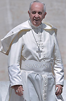 Pope Francis  during his weekly general audience in St. Peter square at the Vatican, Wednesday.20 May 2015