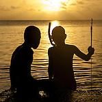 Local boys in Funafuti, Tuvalu