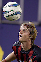 The MetroStars' Eddie Gaven. The Columbus Crew and the MetroStars played to a 1-1 tie in regular season MLS action on Saturday October 9, 2004 at Giant's Stadium, East Rutherford, NJ..