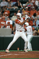 Texas CF Jordan Danks bats against Texas A&M on May 16th, 2008 in Austin Texas. Photo by Andrew Woolley / Four Seam Images..