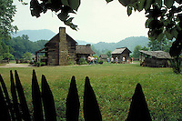 Oconaluftee Pioneer Farmstead, Great Smokey Mountains National Park, TN. TN USA Smokey Mountains National Park.