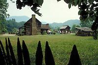 Oconaluftee Pioneer Farmstead, Great Smokey Mountains National Park, TN. TN USA Smokey Mountains National Park.