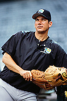 Rolando Arrojo of the Tampa Bay Devil Rays during a game against the Anaheim Angels at Angel Stadium circa 1999 in Anaheim, California. (Larry Goren/Four Seam Images)
