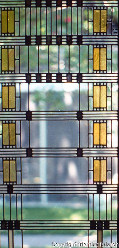 F.L. Wright: Darwin D. Martin House. Window.  Photo '88.