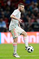Spain's Jordi Alba during international friendly match. March 27,2018.(ALTERPHOTOS/Acero) /NortePhoto.com NORTEPHOTOMEXICO