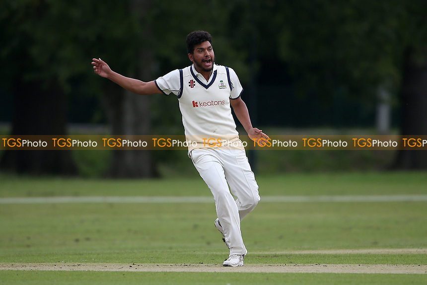 K Velani of Wanstead appeals for a wicket during Hornchurch CC vs Wanstead and Snaresbrook CC, Hamro Foundation Essex League Cricket at Harrow Lodge Park on 10th July 2021
