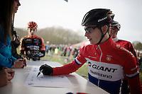 Lars Van der Haar (NLD/Giant-Shimano) signing in<br /> <br /> GP Sven Nys 2015