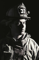 Portrait of fireman