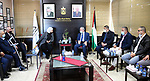Palestinian Prime Minister Mohammed Ishtayeh meets with Dr. Laila Ghanem, in the West Bank city of Ramallah on March 6, 2021. Photo by Prime Minister Office