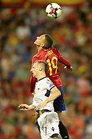 Spain's Rodrigo Moreno (r) and Albania's Ansi Agolli during FIFA World Cup 2018 Qualifying Round match. October 6,2017.(ALTERPHOTOS/Acero) /NortePhoto.com /NortePhoto.com
