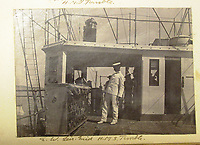 BNPS.co.uk (01202) 558833<br /> Pic: Charles Miller/BNPS<br /> <br /> Crew on board HMS Terrible <br /> <br /> A fascinating photo album compiled by a British naval officer on tour in the Far East at the turn of the 20th century has come to light.<br /> <br /> Taprell Dorling served on the HMS Terrible in 1900 at the start of an over 30 year career at sea.<br /> <br /> The album, containing 74 photos, has emerged for sale with auctioneers Charles Miller, of London, with an estimate of £3,000.