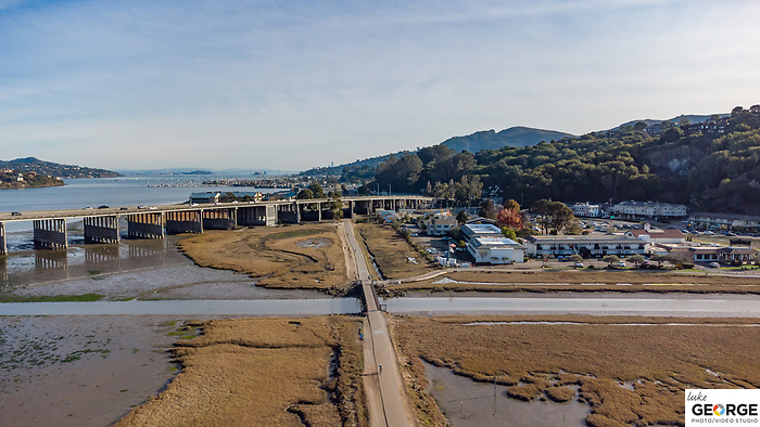 Hotel aerial photography at The Holiday Inn Express in Mill Valley.