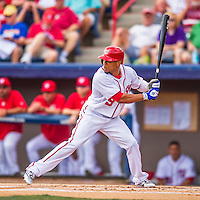 13 March 2016: Washington Nationals outfielder Ben Revere in action during a pre-season Spring Training game against the St. Louis Cardinals at Space Coast Stadium in Viera, Florida. The teams played to a 4-4 draw in Grapefruit League play. Mandatory Credit: Ed Wolfstein Photo *** RAW (NEF) Image File Available ***