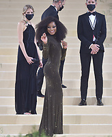 """NEW YORK, NEW YORK - SEPTEMBER 13: Keke Palmer at the 2021 Met Gala benefit """"In America: A Lexicon of Fashion"""" at Metropolitan Museum of Art on September 13, 2021 in New York City. Credit: John Palmer/MediaPunch"""
