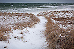 A winter storm at Skaket Beach in Brewster, Cape Cod, MA, USA