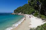 Greece, Thessaly, Northern Sporades, Island Skiathos, near Koukounaries: Mystique beach at Koukounaries Bay | Griechenland, Thessalien, Noerdliche Sporaden, Insel Skiathos, bei Koukounaries: Mystique beach an der Koukounaries Bay
