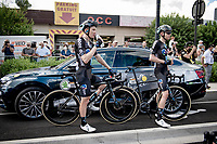 Team DSM at the finish in Nîmes<br /> <br /> Stage 12 from Saint-Paul-Trois-Châteaux to Nîmes (159km)<br /> 108th Tour de France 2021 (2.UWT)<br /> <br /> ©kramon