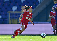 Laura Miller (9) of Standard pictured during a female soccer game between RSC Anderlecht Dames and Standard Femina de Liege on the sixth matchday of the 2021 - 2022 season of Belgian Womens Super League , saturday 9 th of October 2021  in Brussels , Belgium . PHOTO SPORTPIX   DAVID CATRY