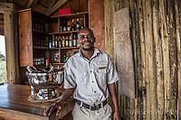 Africa, Botswana, Khwai, The Lodge, Feline Fields, edge of the Kalahari desert. Rhu, manager at The Lodge.