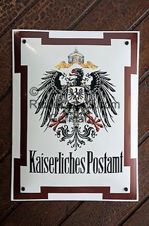 Austria, Lower Austria, UNESCO World Heritage Wachau, Krems: sign at Hotel Alte Post - former Imperial Post